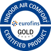 Logo Eurofins Gold - Indoor Air Comfort Certified